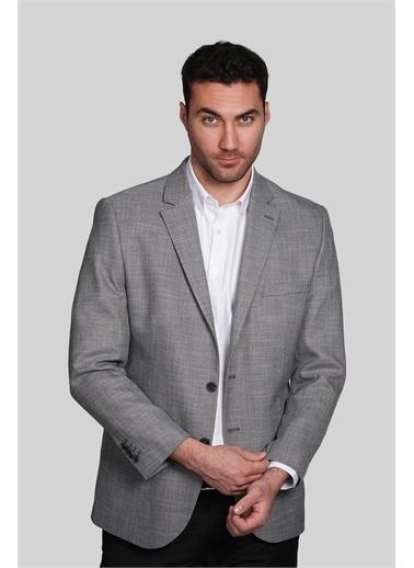 IGS Erkek Grı Barı / Genış Kalıp Mono Yaka Ceket Gri